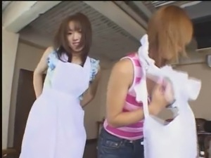 CENSORED L063 Japanese girls showing off new aprons