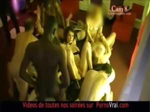 FRENCH amateur Hidden cam in a swinger club! part 11 free