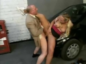 Young Teen In Pigtails Wants This Old Man's Cock