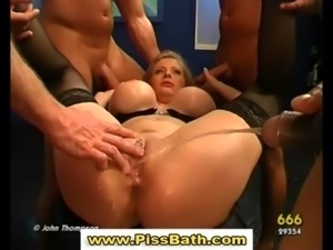Piss watersports slut cock sucking and golden shower free