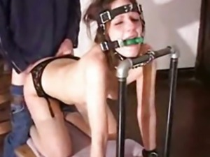 slave  bounded gagged and d in the ass