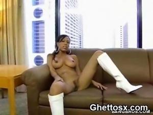 Black Big Booby Big Ass Ebony Solo