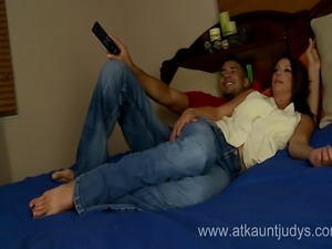Cougar Mimi Moore likes to fuck a lot with younger guys...she is very...