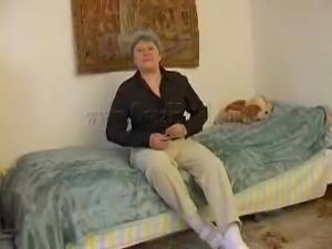 fat old granny masturbating alone