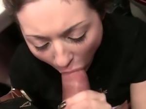 Public european toilet fuck threesome