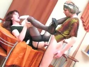Gay Russian Sissy gets her dirty ass sucked out!!! More uncensored videos of...