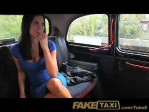 FakeTaxi Sex starved career woman in lunch break sex tape free