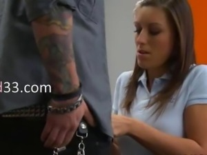 Sex Education with unbelievably hot teen