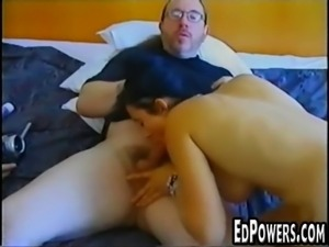 Horny girl riding Ed Powers dick