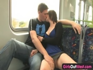 Amateur couple fucking on the train free