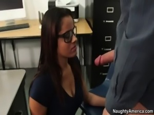 Ebony nerd gets her pussy eaten then fucked by her college professor free
