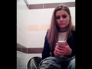 Toilet Spy 2 Cam Blonde Girl