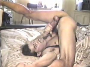 Vintage edger, self sucker, cock worship, masturbation.