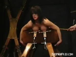Amateur bdsm and big tit torture of sado masochistic english slavegirl Danii...
