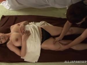 busty japanese milf getting a pleasing massage