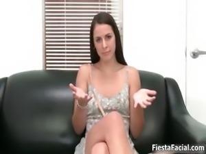 Hot brunette babe goes crazy showing off part5