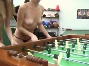 Horny coeds fucking everywhere in room