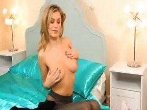 Blonde bitch with unbelievable lingerie