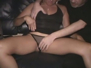 Jackie's anal gang bang in the theater
