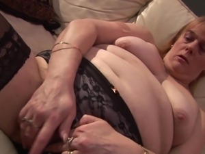 blonde mature slut playing with her body smoothly