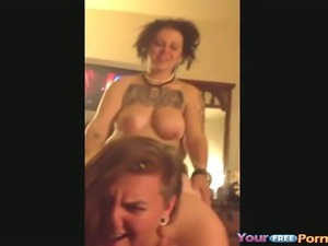 Lesbian couple wants to try something new and invite a guy for a threesome...