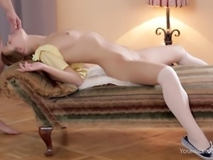 sexy babe alexis gets her throat fucked roughly