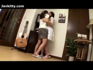 Asian MILF Lesbian Women Making Out Japanese