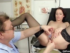 the inside of brunette milf's vagina