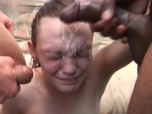 Young girl interracial fuck and facial dislike