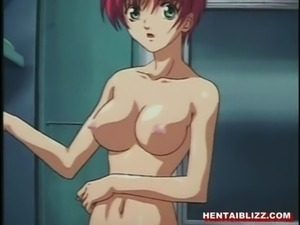 Chained hentai gets dildoed ass and wetpussy free