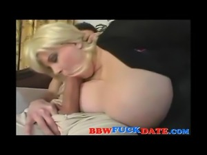 Mature BBW have kinky sex with young man