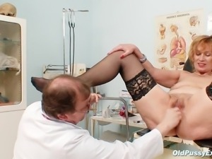 doctor gives milk enema then a close exam
