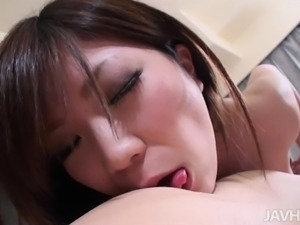 hot brunette asian sucking my dick