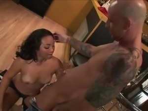 asian brunette sucking big penis and being fucked hard