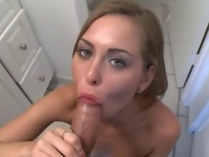 My huge dick in her cute amateur mouth