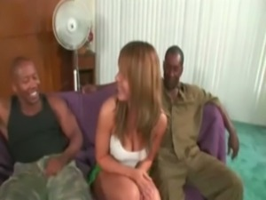 Interracial housewife banged free