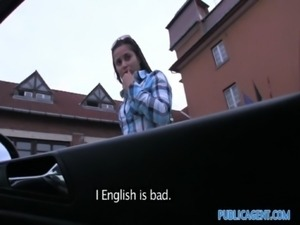 PublicAgent Cute brunette Russian is fucked against my car free