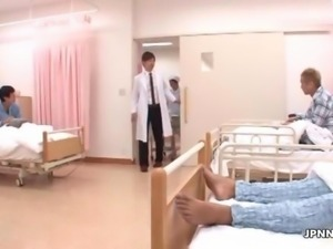 Cute teen nurse from Japan gets