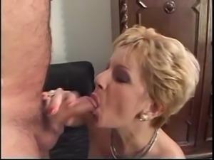 Granny loves fucking two big hard cocks free