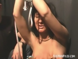 Natashas bdsm debut and tied tit torture of enslaved dark beauty free