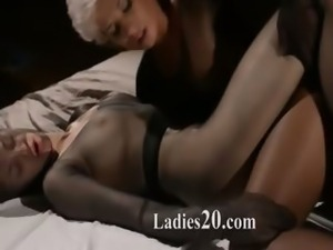 Panty suits performed by two girl2girl