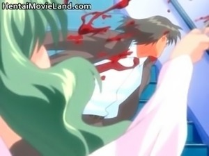 Cute anime brunette goes and fucks