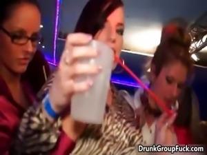 Hot drunk girls getting