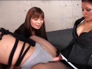 Japanese Office Girls Strap on Fuck Guy