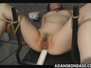 Look at the pretty Japanese babe. This slut save is attached legs wide open...