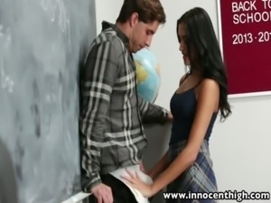 InnocentHigh Horny latina schoolgirl fucks a newcomer free