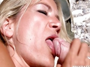 Two cocks for a MILF in heat