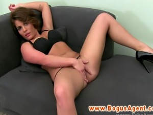 European amateur strips for audition casting in high def