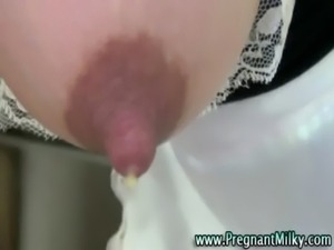 Pregnant fetish amateur milks her full tits free