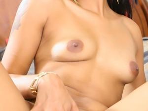 Ebony sweetie Brooke Taylor gets load on her butt